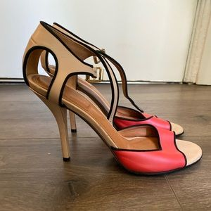 Givenchy Heels Red, Tan, Black